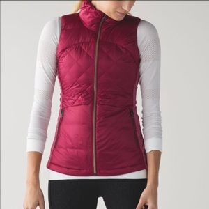 Lululemon Down For A Run Vest - Raspberry color
